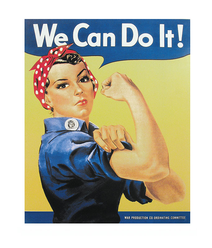 Rosie The Riveter Tin Sign From Aircraft Tool Supply
