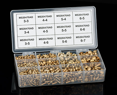 Universal Head Rivet Assortment Pack Ms20470ad From